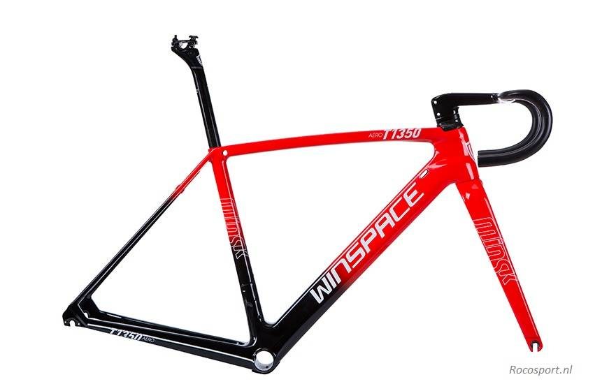 Winspace T1350 black red frameset bicycle racefiets racingbike Rocosport.nl